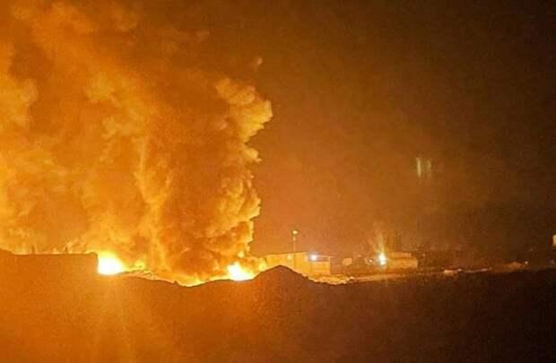 Кассетная «Точка-У» в Сирии накрыла еще один нефтяной склад протурецких боевиков