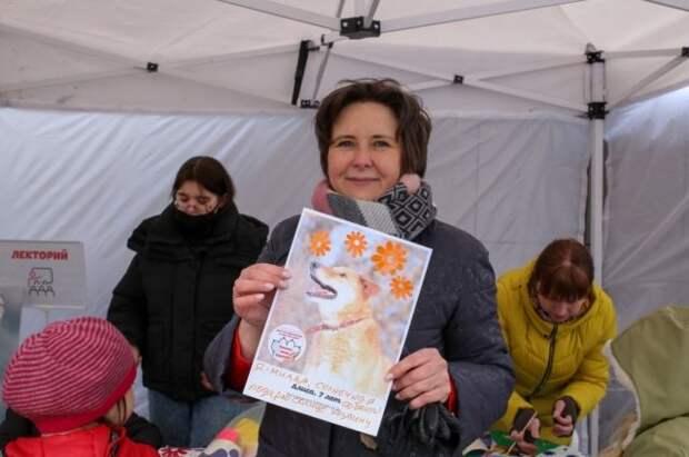 Правозащитница Разворотнева провела благотворительную акцию в Печатниках