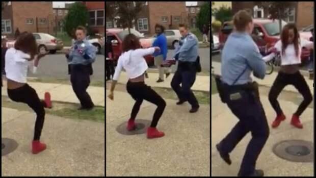 Танцевальная битва: полицейский против уличной танцовщицы