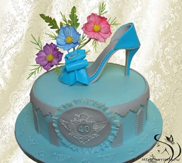 Нежные цветы из сахарной мастики для торта (1) (573x515, 178Kb)