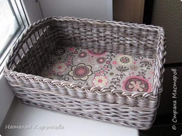 Поделка изделие Плетение Шитьё Корзинка для сушеных трав и еще кое-что Салфетки Ткань Трубочки бумажные фото 8