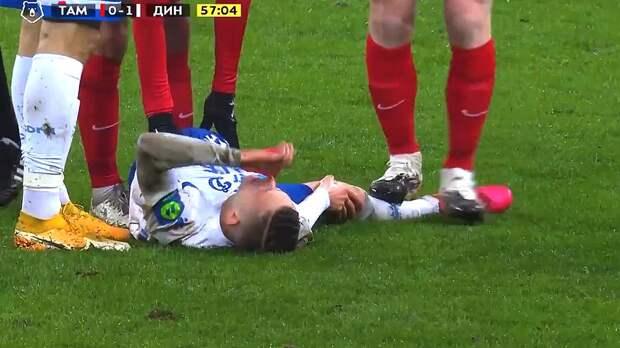 «Я не подлый человек, я не крыса». Защитник «Тамбова» Тетрашвили извинился за удаление в матче с «Динамо»