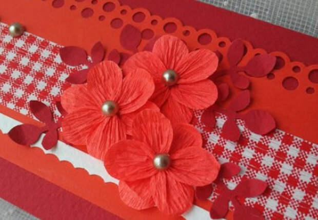 Цветы из гофробумаги своими руками (14)