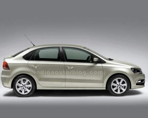 Возможный вид компактного седана Volkswagen