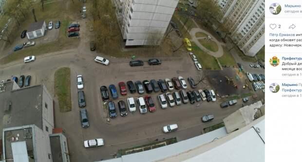 Во двор дома на Новочеркасском вернут дорожную разметку