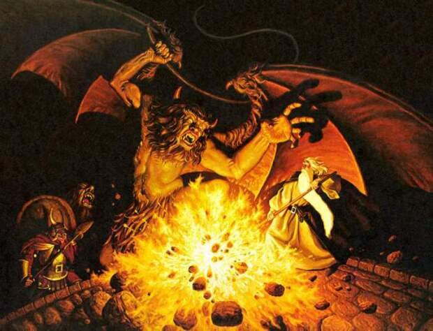 Гигантский демон Балрог.