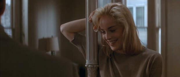 """Майкл Дуглас и Шэрон Стоун в эротическом триллере """"Основной инстинкт""""."""