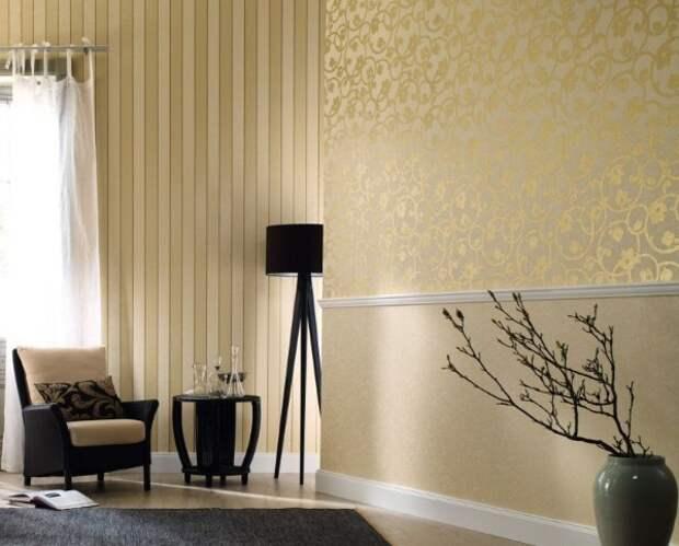 сдержанный и элегантный дизайн как скомбинировать обои в гостиной