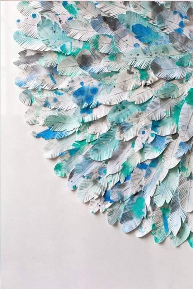 В качестве идеи: необычный декор для дома из рамы, бумаги и красок
