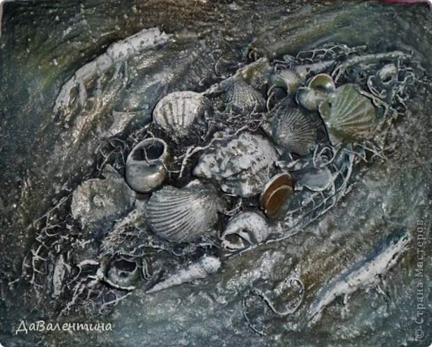 Картина панно рисунок Мастер-класс Коллаж Коллаж в технике терра Мастер-класс Морское дно с креветками Материал природный фото 16