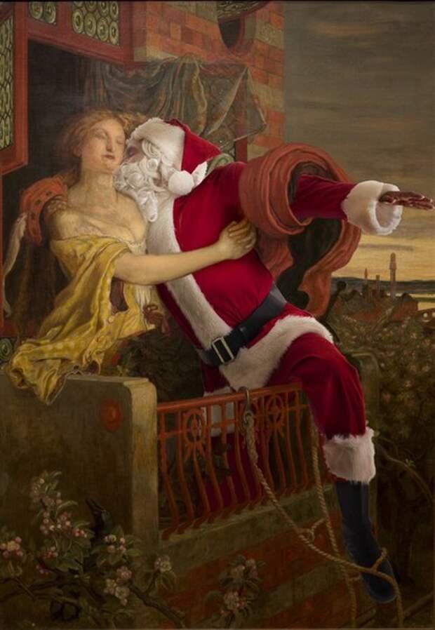 Новогодние настроения на полотнах классиков от Эда Уилера