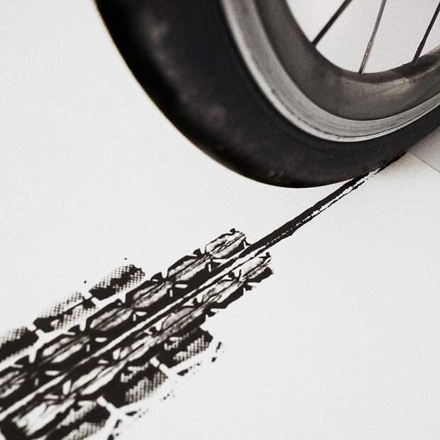 Велоарт от Томаса Янга (трафик)