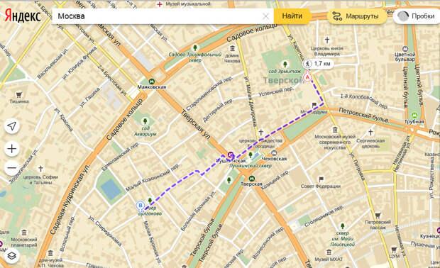 """На """"Яндекс.Картах"""" теперь можно проложить пешеходный маршрут"""