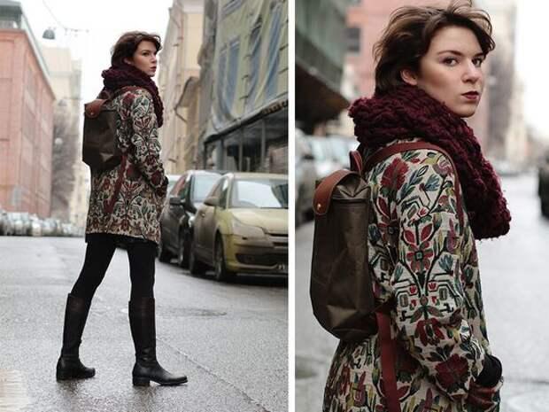 Одно пальто  - несколько образов (трафик)
