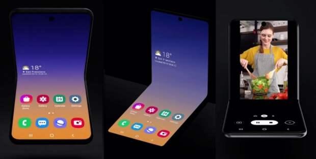 Видео: Samsung показала, что преемником Galaxy Fold станет смартфон-раскладушка