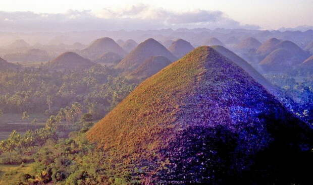 Холмы, покрытые высохшей травой