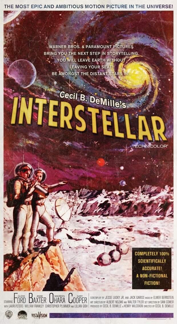 Современные фильмы на постерах времен золотого века Голливуда
