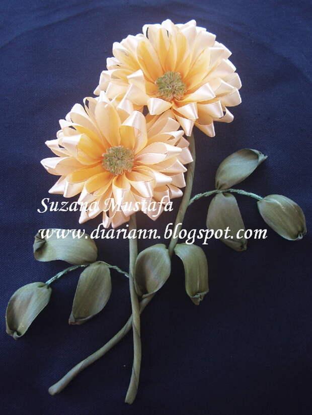 вышивка летнами. хризантемы (11) (525x700, 190Kb)