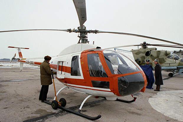 Первую попытку сделать аналог Robinson предпринял Московский вертолетный завод (МВЗ) им. Миля. В 1986 году там создали Ми-34