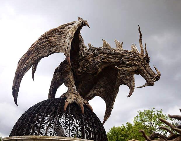 Причуда виверны - скульптура талантливого мастера с Филиппин.