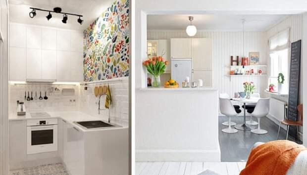 Белоснежные кухни всегда выглядят стильно.