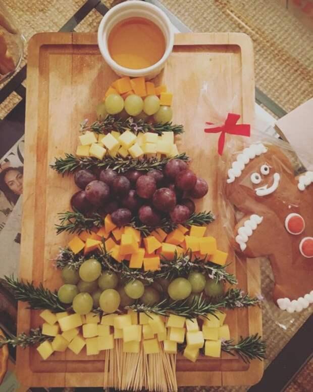 Новогодняя сервировка сыров