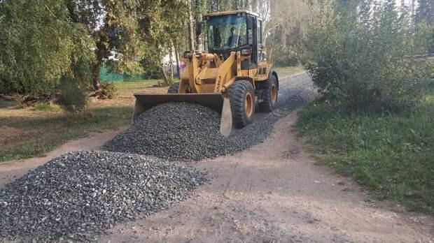 В частном секторе Ижевска началось щебенение улиц