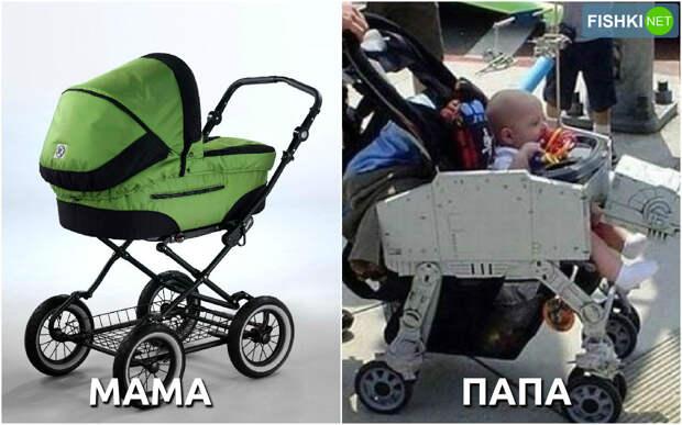Родители выбирают ребёнку коляску. дети, мамы, папы, юмор