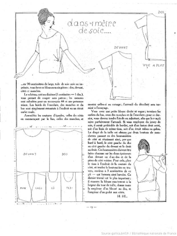 Потрясающие простые выкройки платьев 20-х годов