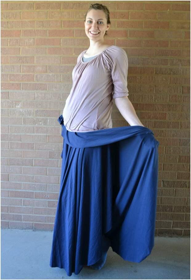 2 юбки с запахом (простые выкройки)