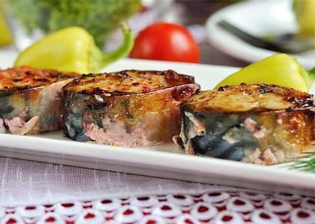 Диетический обед: запеченная скумбрия