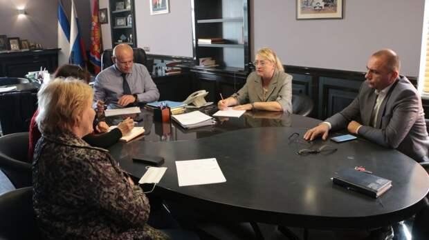 В городской администрации состоялось рабочее совещание с Ириной Кивико