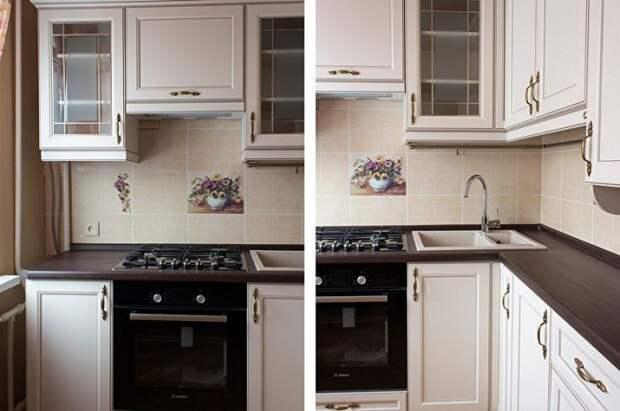 Кухня оформленная в классическом стиле.