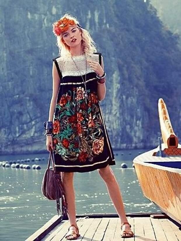 Идея платья из платка