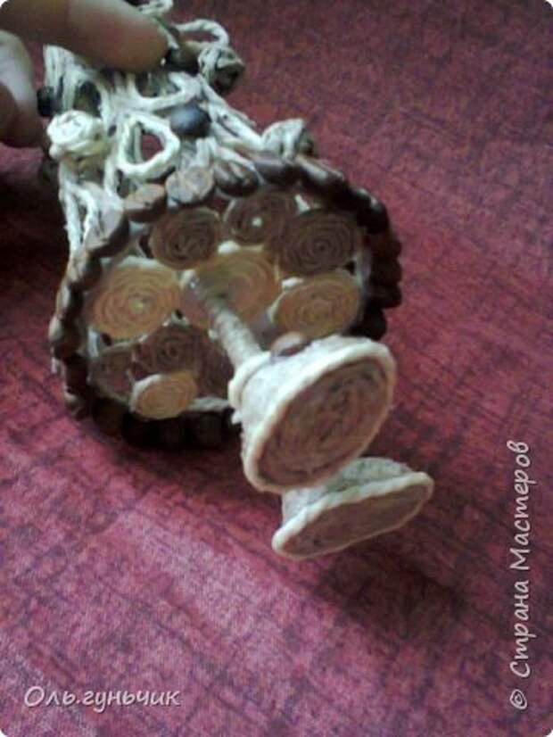 Мастер-класс Поделка изделие Новый год Моделирование конструирование Филигранная елочка МК Клей Кофе Шпагат фото 23