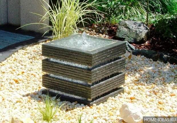 декоративный мини фонтан