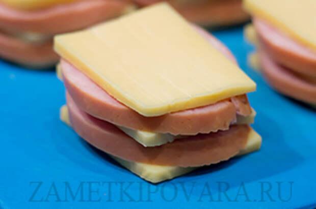 Шницель из ветчины с сыром