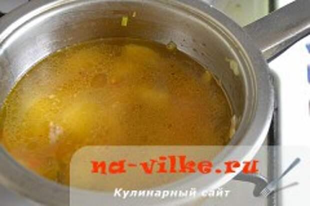 Суп с судаком и морепродуктами