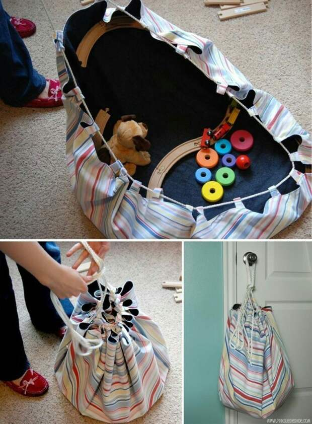 Выкройка многофункциональной сумки для игрушек