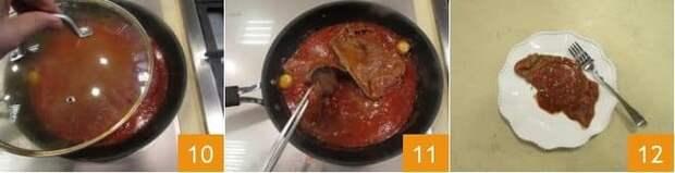 """""""Carne alla pizzaiola""""- Сочное мясо алла пиццайола. Вы не оставите ни капли соуса в тарелке!"""
