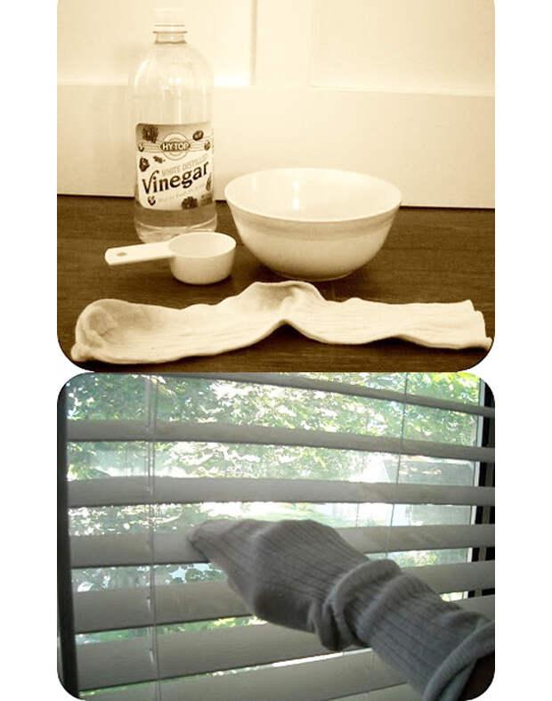 Средство для мытья жалюзи носки, сделай сам