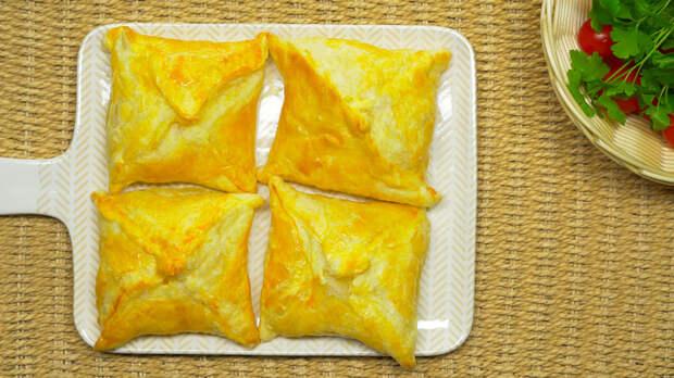 Хачапури из слоеного теста Хачапури, Рецепт, Выпечка, Слоеное тесто, Видео рецепт, Всегда вкусно, Грузинская кухня, Видео
