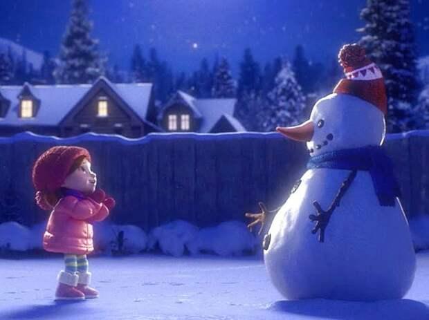 Лили и снеговик - трогательный новогодний мультфильм о настоящей дружбе