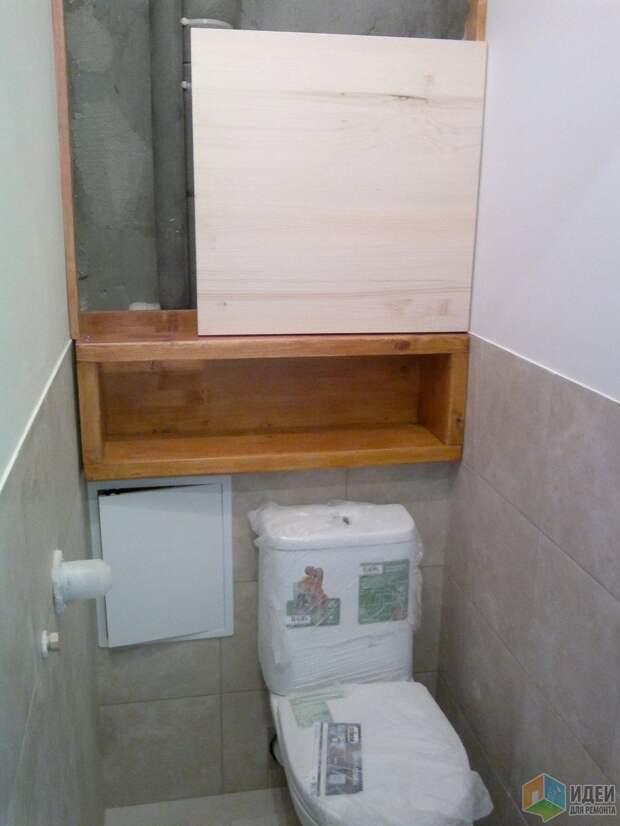 Установка шкафчика в туалете