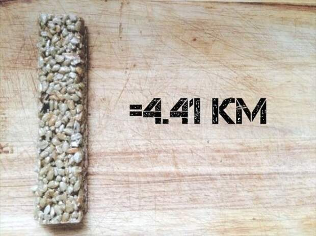 Козинак (56 грамм) бег, еда, каллории