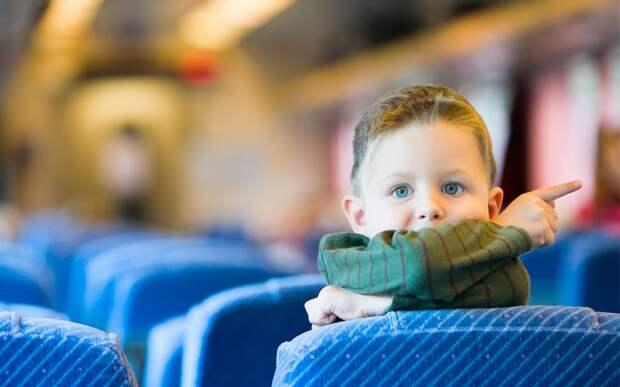 Ребёнок в автобусе