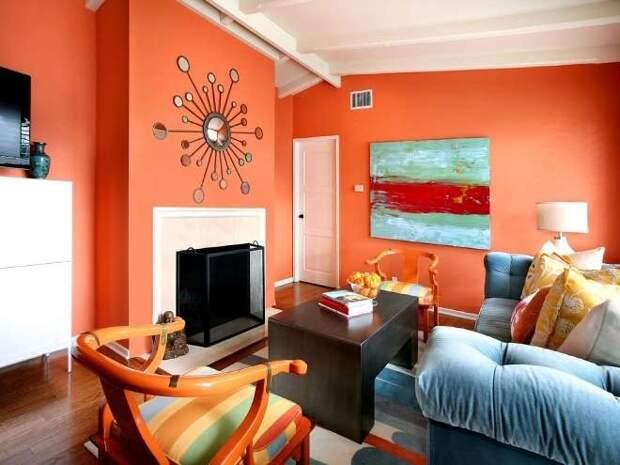 Персиковый цвет в интерьере: разные оттенки и возможные сочетания (73 фото)