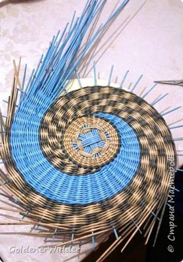 Мастер-класс Плетение Панно 40 см Спиральное плетение Бумага газетная Трубочки бумажные фото 23