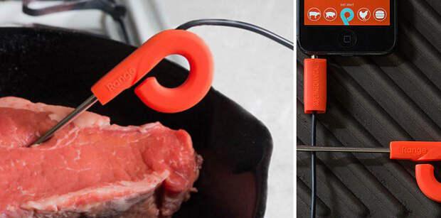 29. Термометр для мяса, который синхронизируется со смартфоном готовка, кухня, советы