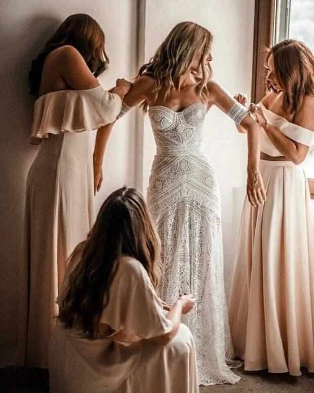Бохо свадебное платье (трафик)